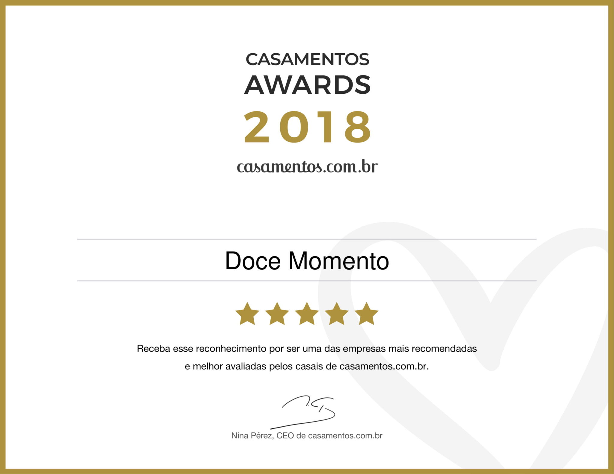 Doce Momento Casamento Awards